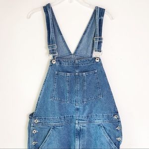 GAP OVERALLS MENS JEANS BIB CARPENTER DENIM M